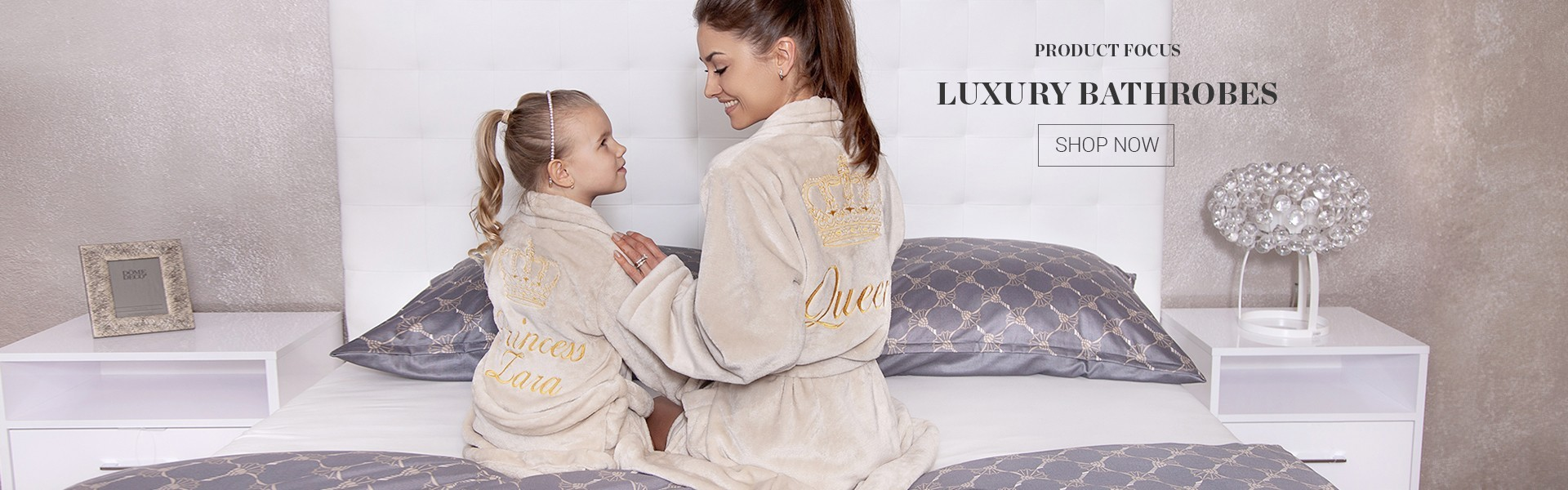 Fleece personalised bathrobes
