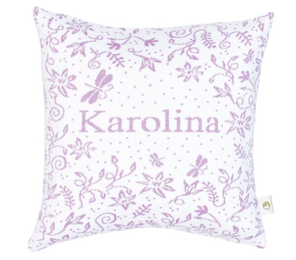 Martello Purple pillowcase with flowers
