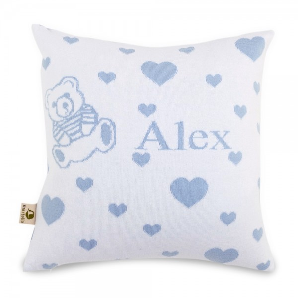 Martello Blue pillowcase with hearts