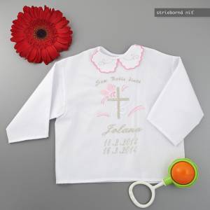 Christening shirt /a cross motive