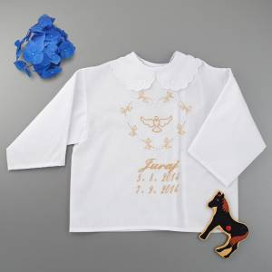 Christening shirt / a dove motive