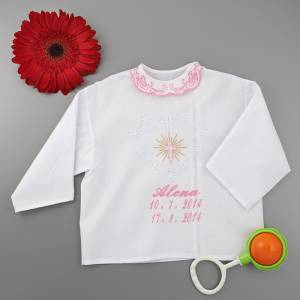 Christening shirt / a cross motive