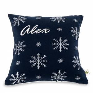 Martello Blue pillowcase with snowflakes
