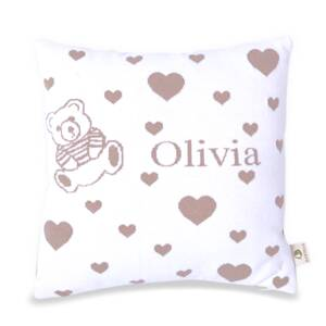 Martello Beige pillowcase with hearts