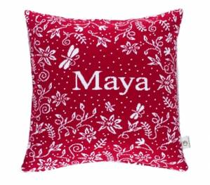 Martello Red pillowcase with flowers