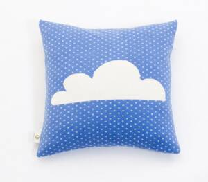 Martello Blue pillowcase with  cloud