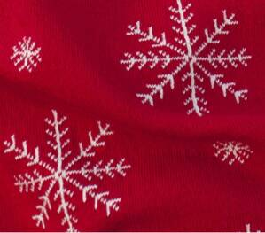 Martello Red pillowcase with snowflakes