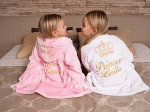 Fleece children's bathrobe