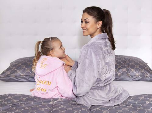 Fleece luxury personalised bathrobes